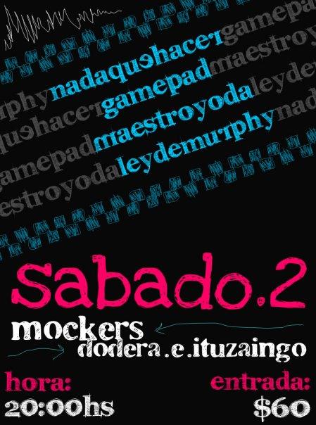 Afiche 02-01-2010 Mockers, Maldonado