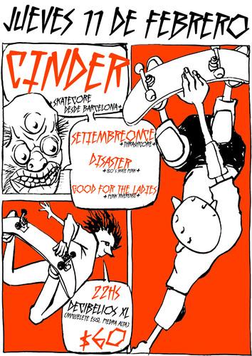 11 de febrero - Cinder en Montevideo